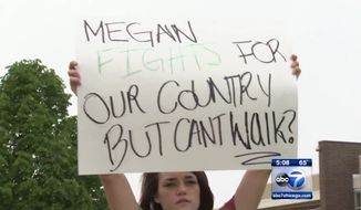 An Illinois high school is facing backlash after refusing to let Marine Corps Pvt. Megan Howerton walk at her graduation last week because she was wearing her dress blues. The controversy has spurred a wave a backlash against the school and a #LetMeganWalk social media campaign.