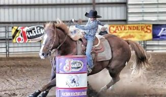 Kalee Chandler, 12, has died after her horse collapsed on top of her during a barrel race in Missouri. (FOX4KC)
