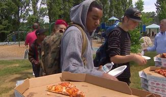 The Bethany Community Church in Seattle has been forced to stop giving away free pizza at lunch time, after a union representing the school district's cafeteria workers complained that it hurt business. (KOMO News)