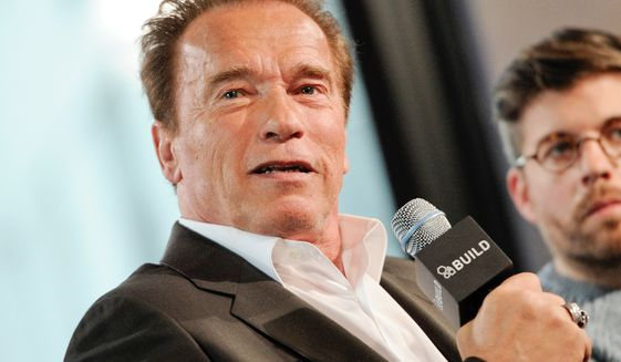 In this April 22, 2015, file photo, actor Arnold Schwarzenegger participates in AOL's BUILD Speaker Series in New York. (Photo by Evan Agostini/Invision/AP, File)