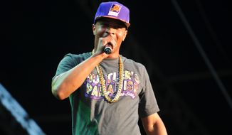 T.I. performs at Piedmont Park on Sept. 21, 2012, in Atlanta. (Associated Press)