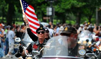 Artie Muller, who served in the U.S. Army 4th Infantry Division in the jungles of South Vietnam, Cambodia and Laos at age 20, founded Rolling Thunder years later. (Washington Times photographs)