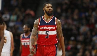 Washington Wizards forward Markieff Morris was detained Thursday at Philadelphia International Airport. (AP photo/David Zalubowski)