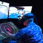A sailor test Augmented reality (AR) technology. (U.S. Navy)