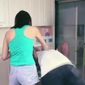 A new Chinese ad for Qiaobi-brand laundry detergent that shows a light-skinned Asian woman shoving a black man into a washing machine is being dubbed the most racist ad of the year. (Qiaobi)
