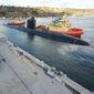 The submarine USS Alexandria (SSN 757) arrives pierside in its new homeport of San Diego on Nov. 10, 2015. (navy.mil) **FILE**