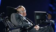 In this file photo dated Wednesday Aug. 29, 2012, British physicist, Professor Stephen Hawking speaks during the Opening Ceremony for the 2012 Paralympics in London, Wednesday Aug. 29, 2012. (AP Photo/Matt Dunham, File)