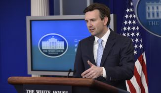 White House Press Secretary Josh Earnest speaks during the daily briefing at the White House in Washington, Tuesday, May 31, 2016. Earnest answered questions about the Zika virus funding and other issues. (AP Photo/Susan Walsh)