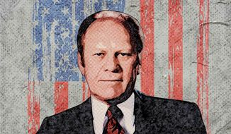 Gerald R. Ford Portrait Illustration by Greg Groesch/The Washington Times