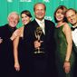 "LOS ANGELES, CA - SEPTEMBER 13, 1998: The cast of ""Frasier"" pose at the Academy of Television Arts & Sciences 50th Annual Primetime Emmy Awards held at the Shrine Auditorium on September 13, 1998 in Los Angeles, California. (Photo by TVA/PictureGroup/Invision for the Academy of Television Arts & Sciences/AP Images)"