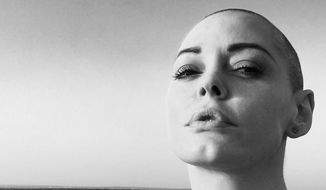 Rose McGowan in a May 27, 2016 photo from her Facebook profile. Accessed June 3, 2016.
