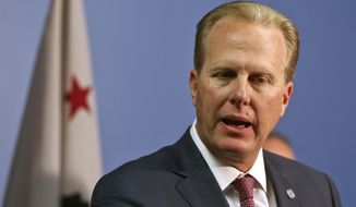 San Diego Mayor Kevin Faulconer speaks at a recent news conference Monday, May 23, 2016, regarding a new ordinance for the city regarding drugs in San Diego.  Faulconer's low-key style has gone down well with voters after the high drama of a predecessor who resigned and pleaded guilty to a felony for harassing women. The Republican leader is a heavy favorite to win a second term as mayor of the nation's eighth-largest city. (AP Photo/Lenny Ignelzi)
