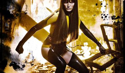 Malin Akerman as Silk Spectre II (Laurie Jupiter) in Watchmen (2009)