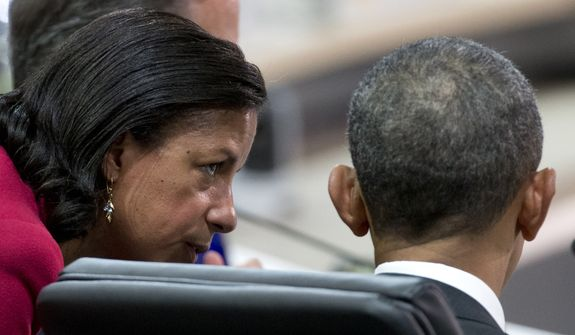 National Security Adviser Susan Rice was a close associate of President Obama. (Associated Press/File)
