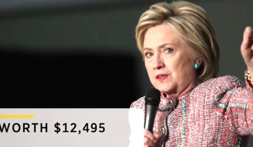 Clinton reportedly gave economic inequality speech in $12K Armani jacket