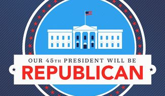 An insistent new graphic from an energized Republican Party tells all. (RNC)