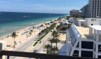 A view from the balcony of a suite at The Atlantic Hotel & Spa.  (Eric Althoff)