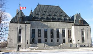 Supreme Court of Canada building by D. Gordon E. Robertson, taken February 7, 2010. Via Wikimedia Commons. Accessed online June 10, 2016 from: https://commons.wikimedia.org/wiki/File:Supreme_Court_of_Canada,_Ottawa.jpg