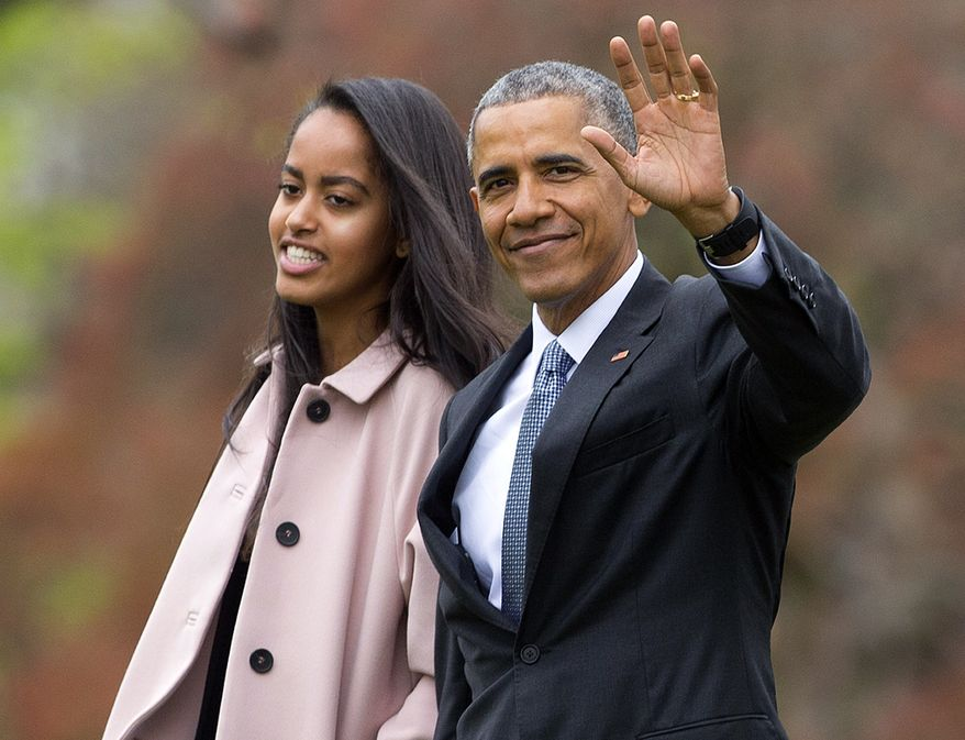 President Barack Obama and his daughter Malia