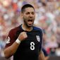 """The United States' Clint Dempsey, who has scored in two straight Copa America matches, said """"I think we could possibly do something special here."""" (Associated Press)"""