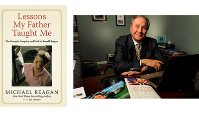 "Michael Reagan, son of the late President Ronald Reagan, talks with Scott Lamb about his new book, ""Lessons My Father Taught Me."""