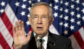 Senate Minority Leader Harry Reid of Nevada speaks during a news conference on Capitol Hill in Washington in this June 9, 2016, file photo. (AP Photo/Alex Brandon)