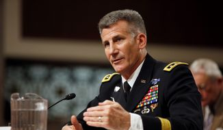 Gen. John Nicholson, the top U.S. commander in Afghanistan, oversaw a three-month review of the situation on the ground, which triggered changes in strategy by the Pentagon and White House officials this month. (Associated Press) ** FILE **