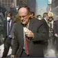 "Former New York City Mayor Rudy Giuliani in the dust of Manhattan on the morning of 9/11 attacks. He has decried President Obama's apparent inability to say the words ""Islamic terrorism."" (ABC News)"