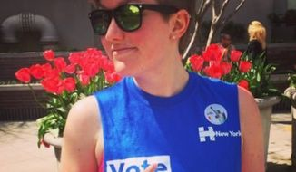Emmy Bengtson manages Hillary Clinton's social media accounts. (Twitter, Emmy Bengtson)
