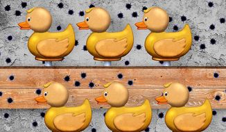 Sitting Ducks Illustration by Greg Groesch/The Washington Times