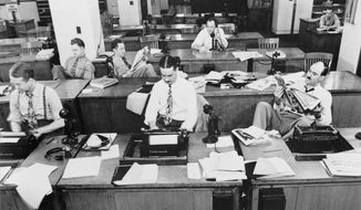 Long before technology, and the way it was: The New York Times newsroom in 1942. (Library of Congress)