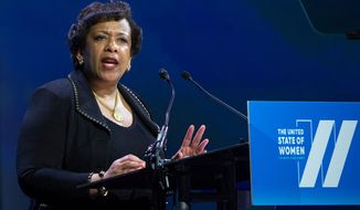 Attorney General Loretta E. Lynch supports a plan to deny gun sales to those on terrorist watch lists, brushing off the FBI's concern it will alert suspects. (Associated Press)