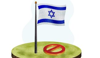 Stop Israeli Boycotts Illustration by Greg Groesch/The Washington Times