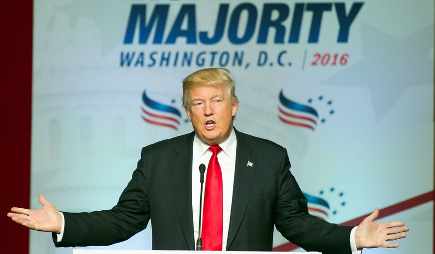 Presumptive Republican presidential nominee Donald Trump is strongly favored by evangelicals over Democratic rival Hillary Clinton. (Associated Press)