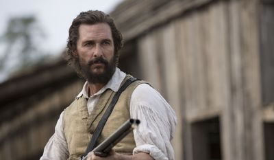 """Oscar-winning actor Matthew McConaughey will co-teach a film class at his alma mater, the University of Texas, this fall. Behind-the-scenes footage from the filming of """"The Free State of Jones"""" will be part of the course material. This image released by STX Productions shows Mr.  McConaughey in a scene from """"The Free State of Jones."""" (Murray Close/STX Productions via AP)"""