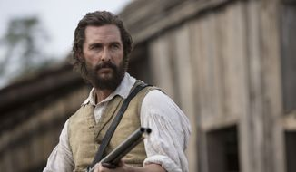 "Oscar-winning actor Matthew McConaughey will co-teach a film class at his alma mater, the University of Texas, this fall. Behind-the-scenes footage from the filming of ""The Free State of Jones"" will be part of the course material. This image released by STX Productions shows Mr.  McConaughey in a scene from ""The Free State of Jones."" (Murray Close/STX Productions via AP)"