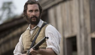 "In a June 23 interview with the Daily Beast, actor Matthew McConaughey waxed eloquent about his faith in America as a country which quickly learns from its mistakes. This image released by STX Productions shows Mr.  McConaughey in a scene from ""The Free State of Jones."" (Murray Close/STX Productions via AP)"