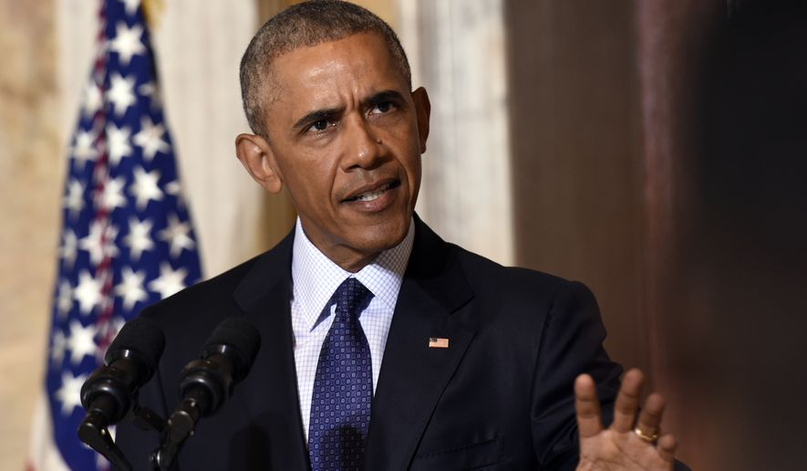 White House officials, wary of pursuing a new military engagement in the region so close to the end of President Obama's final term in office, have adopted a wait-and-see approach to combating the Islamic State in Libya. (Associated Press)