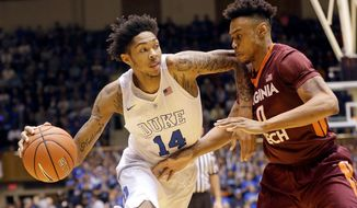 Duke's Brandon Ingram is likely to be selected second in Thursday night's NBA draft.  (AP Photo/Gerry Broome, File) (Associated Press)
