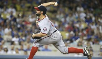 Tanner Roark cruised into the eighth inning before allowing a three-run homer. (AP Photo/Jae C. Hong)