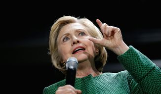 Democratic presidential candidate Hillary Clinton. (Associated Press) ** FILE **
