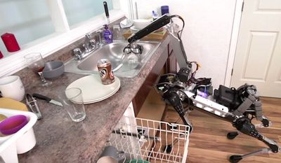 Boston Dynamics has created a new robot that can accomplish many household chores. (YouTube, Boston Dynamics)