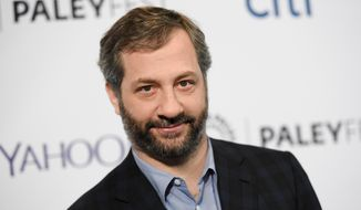 "In this March 8, 2015 file photo, producer-director Judd Apatow arrives at the 32nd Annual Paleyfest : ""Girls,"" in Los Angeles. Apatow's latest project, a book titled, ""Sick in the Head: Conversations About Life and Comedy,"" will be released on Tuesday, June 16. (Photo by Richard Shotwell/Invision/AP, File)"