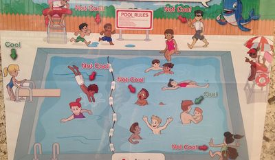 The American Red Cross has apologized for a pool safety poster that social media users deemed racist. (American Red Cross)
