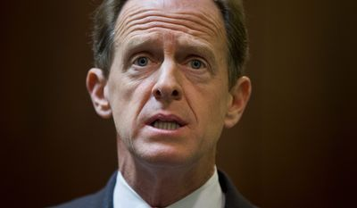 Sen. Pat Toomey, Pennsylvania Republican, has been a staunch defender of free trade deals, which may hurt him in November.