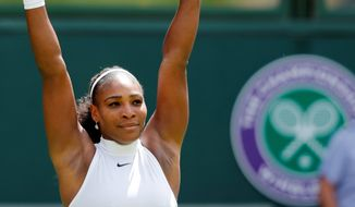 Serena Williams is 18-3 at majors since her sixth Wimbledon championship and 21st Grand Slam title one year ago. (Associated Press)