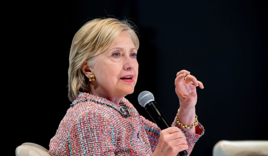 Democratic presidential candidate Hillary Clinton speaks at a Digital Content Creators Town Hall at the Neuehouse Hollywood in Los Angeles, Tuesday, June 28, 2016. (AP Photo/Andrew Harnik)