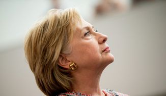 Democratic presidential candidate Hillary Clinton visits Galvanize, a work space for technology companies, in Denver, Tuesday, June 28, 2016. While there Clinton said the House Benghazi committee found nothing different than previous investigations into Benghazi. (AP Photo/Andrew Harnik) ** FILE **
