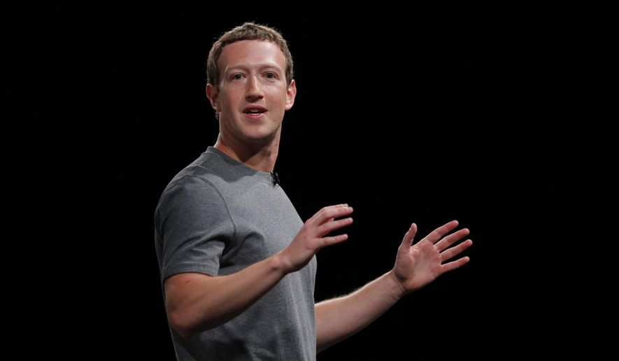 Facebook CEO Mark Zuckerberg speaks during the Samsung Galaxy Unpacked 2016 event in Barcelona on Feb. 21, 2016. (Associated Press) **FILE**
