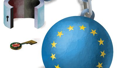 Britain Rejects the Mandates of Brussels Illustration by Linas Garsys/The Washington Times